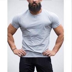 17ba3ad223821 Men s Plain Casual Gym Shirt