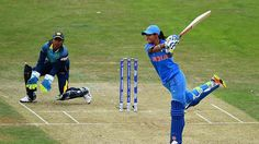 Harmanpreet Kaur plays a shot during her brief innings of 20 Icc Cricket, Cricket Score, World Cup Match, Women's World Cup, Tri Series, Plays, Derby, Athlete, Games
