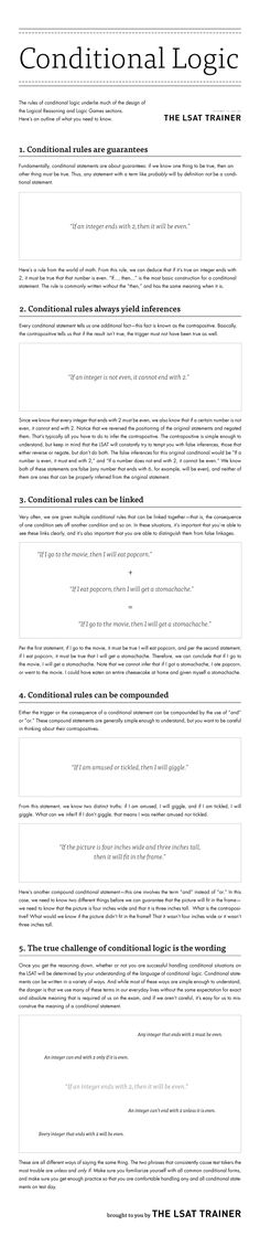 #lsat #lsattrainer The Rules of Conditional Logic for the LSAT