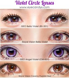 Violet Purple Colored Contacts & Circle Lenses - PICSPAM!! http://www.eyecandys.com/violet/