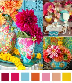 bohemian-beach-color-inspiration - this page has several different color combinations to see what works for you