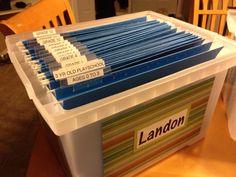 Organizing kids keepsake box (ages 0 to grade 12)