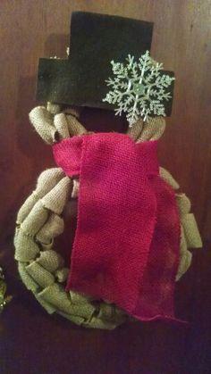 Snowman 2-piece wreath Etsy.com/shop/2HeartsAs1