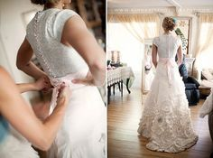 handmade wedding gown by joan shum (photo by kim hayes photography)
