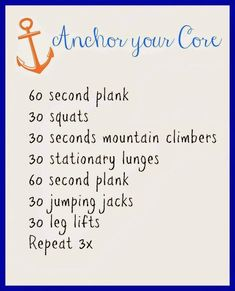 """Great intermediate to advanced core challenge...""""like"""" when you can do it! (60sec planks are the roughest for me - I start to panic after 30sec!)"""