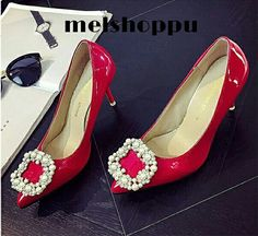 Red glossy heels  Idr 220k  Size from 35