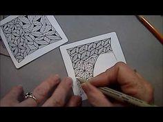 Fassett Tangle Pattern Lesson #43 - YouTube