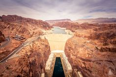 Arizona & Nevada am Hoover Dam