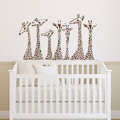 Giraffe Wall Decal Animal Wall Decal Giraffes Safari by PonyDecal