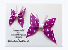 How to make a ribbon butterfly