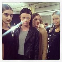 Girl power backstage at @theyskenstheory #nyfw #models #fashion