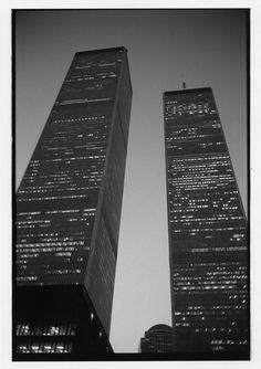 New York World Trade Center Night 1988 Jon Ball