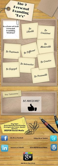"""The 9 Personal Branding """"Be's"""""""