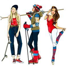 #AnnaLazareva #illustration #teens #digitalillustration #digital #graphic #lifestyle #skiing #skiier #tweens #skateboarder #yoga #dancer #LindgrenSmith
