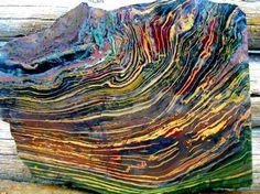Rough of Kaleidoscope Jasper from Oregon