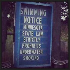 This sign by the lake. | The 29 Most Minnesotan Things That Ever Happened