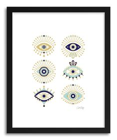 Design your everyday with eye art prints you'll love. Cover your walls with artwork and trending designs from independent artists worldwide. Evil Eye Art, Eye Illustration, Kunst Poster, Art Plastique, White Art, Art Inspo, Body Art, Artsy, Art Prints