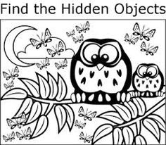 image result for easy printable hidden pictures for kids