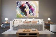 Original Painting on Canvas,Original Abstract Canvas Art,large canvas art,square painting,canvas ori Large Abstract Wall Art, Large Canvas Art, Large Painting, Texture Painting, Wall Canvas, Painting Canvas, Large Art, Knife Painting, Acrylic Canvas