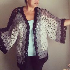 I've been meaning to share this video tutorial with you guys. One of my favorite things to crochet. It is a hexagon sweater or cardigan. By using a large siz...