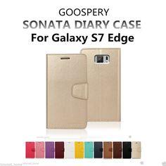 For Galaxy S7 Edge Genuine MERCURY Goospery Leather Flip Case Wallet Cover