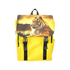 Tiger and Sunset Casual Shoulders Backpack #tigers #artsadd #backpacks