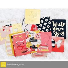 Repost from @marinette_scrap using @RepostRegramApp - In our @hipkitclub January Project Life Kit :: @mymindseyeinc My Story Journaling Cards #hipkits #hipkitclub #january2016 #papercrafting #scrapbook #scrapbooking #marinettelesne
