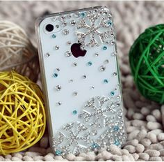 3D Bling Crystal Christmas Snowflake Snow iPhone 4 / 4s Diamond Case Cover Hot | Price:	$3.59