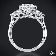Brilliantly designed, the 'Butterflies' 3 Stone Engagement Ring incorporates sweeping lines that twist to create one unforgettable ring. You can choose to purchase this ring as a setting only which will allow you to select all three diamonds or we can provide you with two. #Whiteflash #Verragio