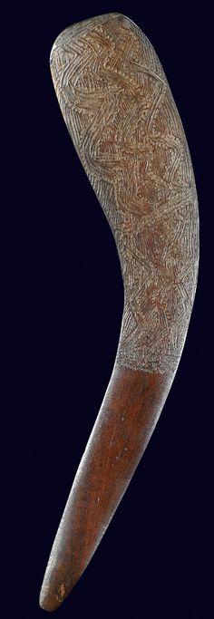 Aboriginal fish killing Boomerang