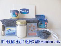 vaseline jelly recipes uses diy healing skin lock in moisture Diy Beauty, Beauty Makeup, Beauty Hacks, Beauty Tips, Vaseline Jelly, Beauty Shots, Makeup Swatches, Beauty Recipe, Jelly Recipes