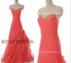 Sweetheart Chiffon Long Bridesmaid Dress cheap by ayayadress