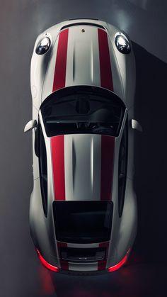2016 Porsche 911 R Top View