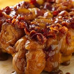 Maple Bacon Monkey Bread Recipe - Key Ingredient...as if anything could possibly make monkey bread any better...enter bacon...of course it makes it better.