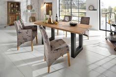 Dieser tolle Esstisch im Landhausstil, aus FSC®-zertifizierter massiver Eiche gefertigt,strahlt eine besondere Atmosphäre aus. Die Tischplatte besteht aus einer 4 cm. dicken Tischplatte und die Tischbeine sind aus Metall. Diesen Esstisch können Sie in 4 verschiedenen Größen bestellen. Alle Maße sind ca.-Maße. Selbstmontage mit Aufbauanleitung.   Details:  4 cm starke Tischplatte, FSC®-zertifizi...