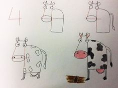 drawing animals using numbers - Google Search