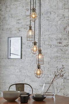 Buy Stockton 5 Light Cluster from the Next UK online shop Hall Lighting, Outdoor Lighting, Classic Ceiling, Kitchen Ceiling Lights, Kitchens And Bedrooms, Modern Light Fixtures, Hanging Lights, Uk Online, Shop