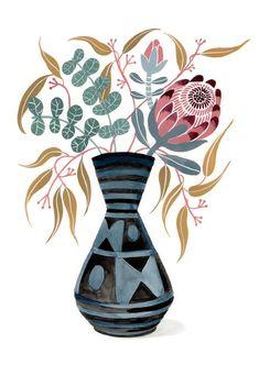 Scandinavian Wall Decor, Protea Flower, Australian Native Flowers, Animal Nursery, Printable Wall Art, Flower Art, Wall Art Prints, Nativity, Original Paintings