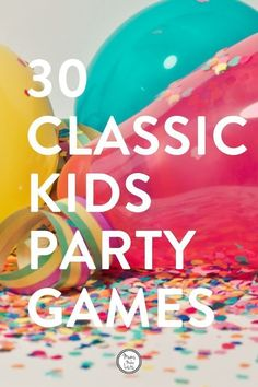 This is my big list of 30 classic kids party games that will keep kids happy, entertained and having fun at kids parties. There are some great classic party games on this list, perfect for super fun kids birthday party entertainment Childrens Party Games, Toddler Party Games, Birthday Party Games For Kids, Birthday Parties, Birthday Ideas, Indoor Party Games, Fun Party Games, Fun Games For Kids, Party Party