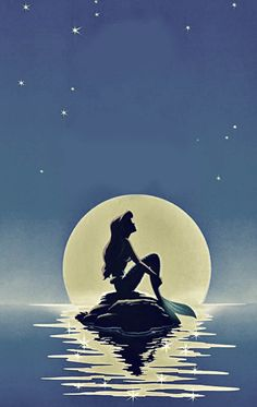 The little mermaid. This is my favourite piece of little mermaid artwork ever!