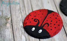 These adorable ladybug coasters are super easy to make. #crafts crunchyfrugalista...