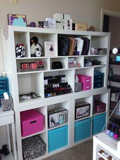 Wall of IKEA EXPEDITS #storage #ikea #expedit