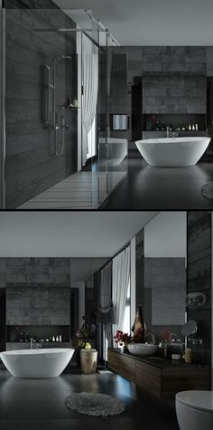 Home Designing (via Sunlight Streams into Bathrooms Connected to. via homedesigning Home Building Design, House Design, Bathroom Design Luxury, Luxury Bath, Fashion Room, Beautiful Bathrooms, Home Decor Kitchen, Bathroom Inspiration, Decoration