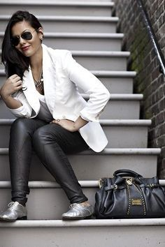 40+ How Wear Silver Shoes Outfits Ideas 11