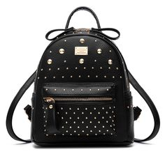 Santwo Women's Mini Rivets Waterproof PU Leather Shoulder Bag Casual Daypack Backpack * Want to know more, click on the image.