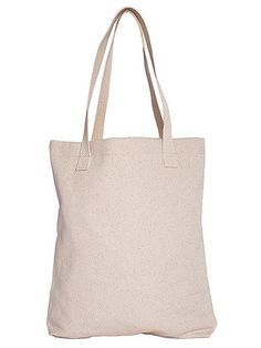 A cute, all-purpose natural cotton tote bag.