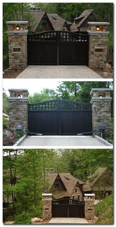 10 Determined Tips: Modern Fence Backyard Fence Trellis Ideas.Front Yard Fences For Wooden Fence Construction.Wooden Fence With Gate. Front Gates, Front Yard Fence, Entrance Gates, Small Fence, Entrance Ideas, Farm Fence, Pool Fence, Fence Gate, Front Entry