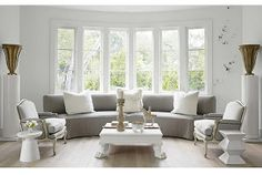 grey sofa and light
