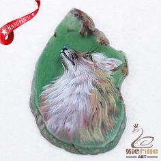 Hand Painted Dog Agate Slice Gemstone Necklace Pendant Jewlery D1707 1463 #ZL #Pendant
