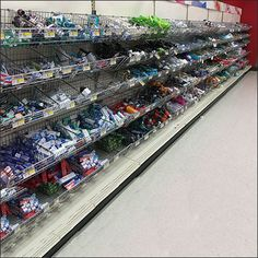 If in need of Travel size avoid Warehouse Club and mainline Family Pack offers, and search for a a wall of Endless Endless Basket Merchandising like this.